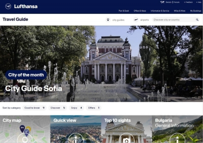 LUFTHANSA PROCLAIMED SOFIA CITY OF THE MONTH